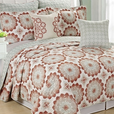 Serenta Delia 7 Piece Coverlet Set; Queen