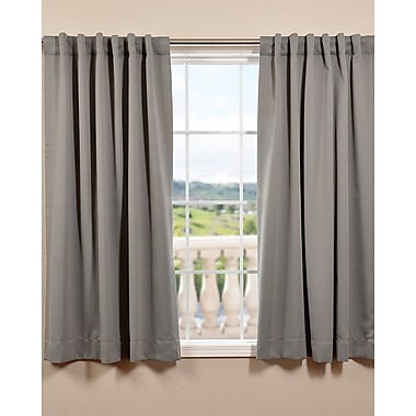Half Price Drapes Plush Solid Blackout Thermal Rod Pocket Curtain Panels (Set of 2); Neutral Grey