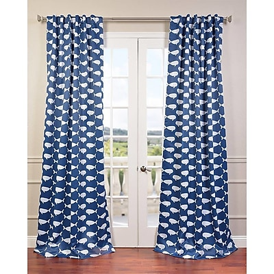 Half Price Drapes Migaloo Blackout Curtain Panel; 96'' L x 50'' W