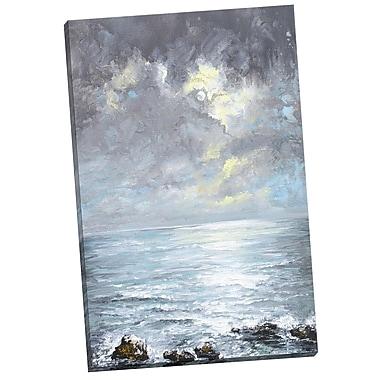 Portfolio Canvas Cloud Burst by Sandra Francis Painting Print on Wrapped Canvas
