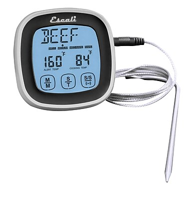 Escali Touch Screen Thermometer and Timer, Black (DHR1-B)