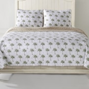 Panama Jack Palm Tree Quilt Set; Full/Queen