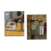 Portfolio Canvas Atomic Flowers II by Lorello 2 Piece Painting Print on Wrapped Canvas Set