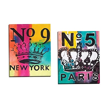 Portfolio Canvas Crown No. 5 by Mark Andrew Allen 2 Piece Painting Print on Wrapped Canvas Set