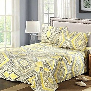 Tache Home Fashion Modern Summer Diamond Reversible Bedspread set; King