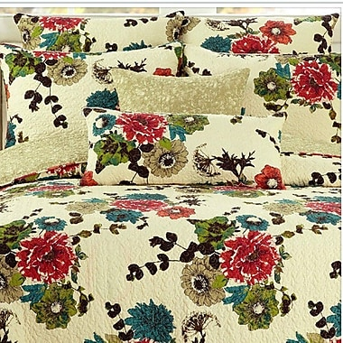 Tache Home Fashion Spring Country Garden Reversible Bedspread Set; Single