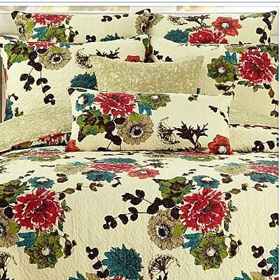 Tache Home Fashion Spring Country Garden Reversible Bedspread Set; California King