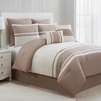 Luxury Home Aberdeen 8 Piece Comforter Set; King