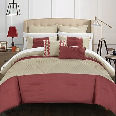 Chic Home Marbella 7 Piece Comforter Set; Queen