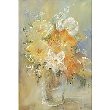 Portfolio Canvas Soft Flowers by Carson Painting Print on Wrapped Canvas