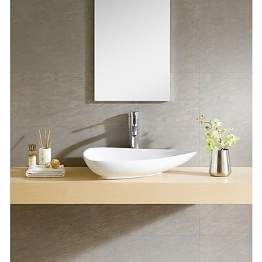 Fine Fixtures Modern Ceramic Specialty Vessel Bathroom Sink
