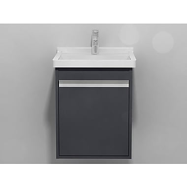 Duravit Wall Mount 17'' Single Bathroom Vanity; Graphite Matte