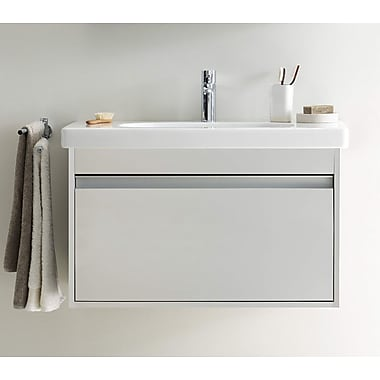 Duravit 39'' Single Wall Mount Bathroom Vanity Set; White Matte