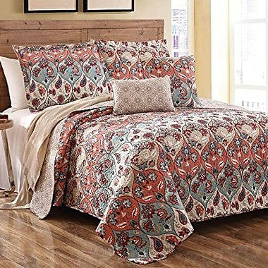 DaDa Bedding 3 Piece Quilt Set; Queen