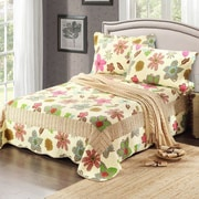Tache Home Fashion 3 Piece Reversible Bedspread Set; California King