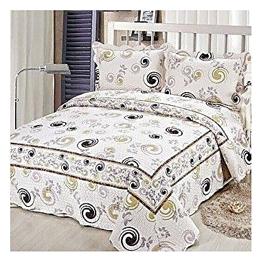 Tache Home Fashion Cotton Reversible Coverlet Set; King