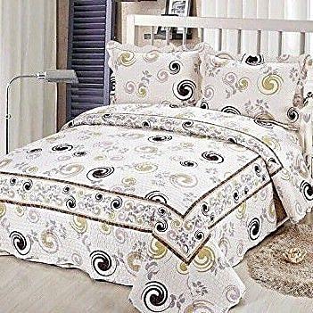Tache Home Fashion Cotton Reversible Coverlet Set; Full