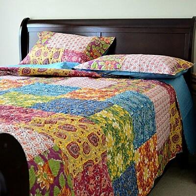 Tache Home Fashion 3 Piece Bedspread Set; King