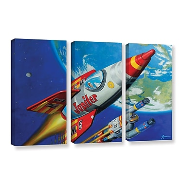 ArtWall 'Spacepatrol 2' by Eric Joyner 3 Piece Graphic Art on Wrapped Canvas Set