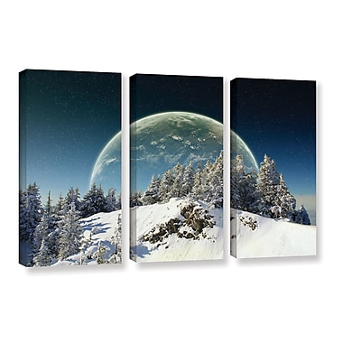 ArtWall 'Once in December' by Dragos Dumitrascu 3 Piece Photographic Print on Wrapped Canvas Set