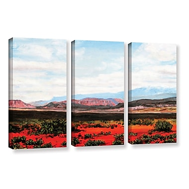 ArtWall 'Joyride' by Gene Foust 3 Piece Painting Print on Wrapped Canvas Set