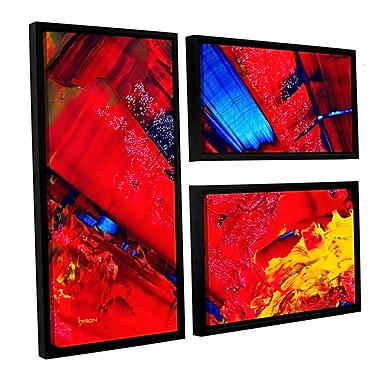 ArtWall 'Passionate Explosion' by Byron May 3 Piece Framed Graphic Art on Wrapped Canvas Set