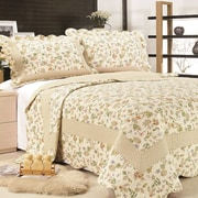 United Curtain Co. Brooke Reversible Quilt Set; Full/Queen