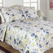 United Curtain Co. Joanne Reversible Quilt Set; Full/Queen