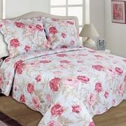 United Curtain Co. Lexi Reversible Quilt Set; Full/Queen