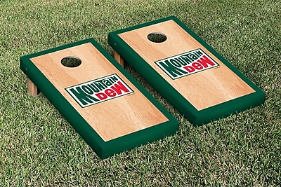 Victory Tailgate Mountain Dew Throwback Hardcourt Version Cornhole Game Set