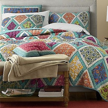 DaDa Bedding 3 Piece Reversible Quilt Set; Full