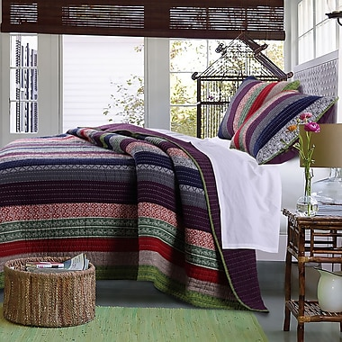 Greenland Home Fashions Marley Cotton Quilt Set; Twin