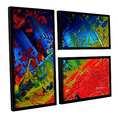 ArtWall 'Emotional Chaos' by Byron May 3 Piece Framed Painting Print on Wrapped Canvas Set