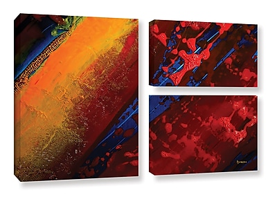 ArtWall 'Out From The Depth' by Byron May 3 Piece Graphic Art on Wrapped Canvas Set