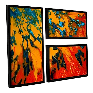 ArtWall 'Floating' by Byron May 3 Piece Framed Painting Print on Wrapped Canvas Set