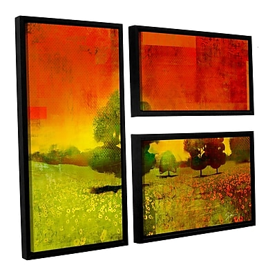 ArtWall 'Drenched Grace' by Greg Simanson 3 Piece Framed Painting Print on Wrapped Canvas Set
