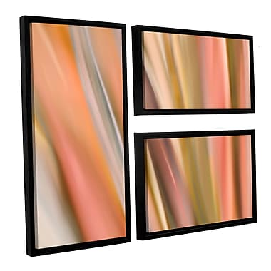 ArtWall 'Abstract Barcode' by Cora Niele 3 Piece Framed Graphic art on Wrapped Canvas Set