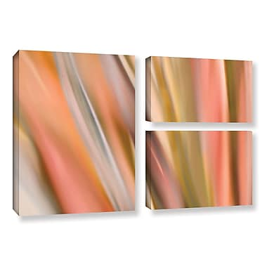 ArtWall 'Abstract Barcode' by Cora Niele 3 Piece Graphic Art on Wrapped Canvas Set