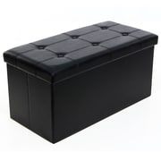Songmics Folding Storage Ottoman; Black