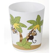 Sweet Home Collection Playful Monkeys Bath Waste Basket