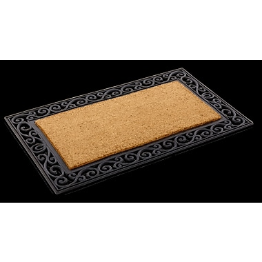 KEMPF Inlaid Scroll Border Doormat