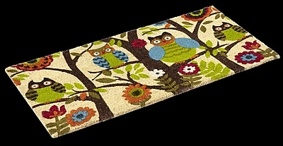 KEMPF Forest Owl Doormat; Rectangle 1'10'' x 3'11''