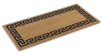 KEMPF Greek Key Doormat; Rectangle 1'10'' x 3'11''