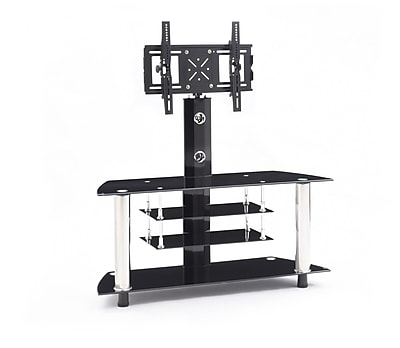 Hodedah Glass 47'' TV Stand WYF078275612375