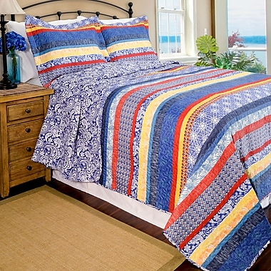 Pegasus Home Fashions Home ID Quilt Set; Full/Queen
