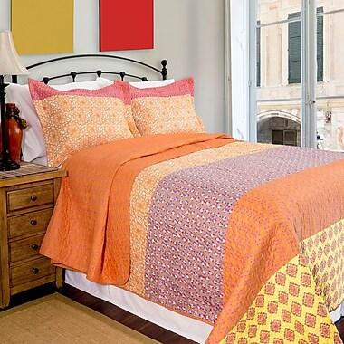 Pegasus Home Fashions Home ID Escapade Reversible Quilt Set; King