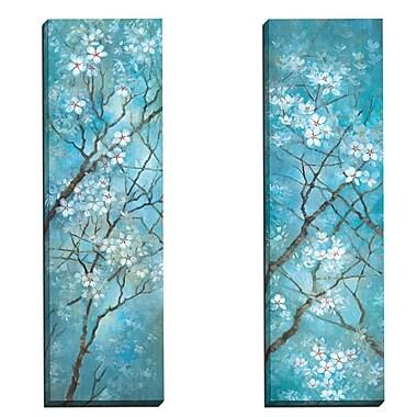 Portfolio Canvas Carolina Spring II by Vera Hills 2 Piece Painting Print on Wrapped Canvas Set