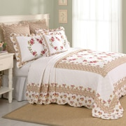 Laurel and Mayfair Luise Cotton Quilted Bedspread; Queen