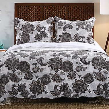 Greenland Home Fashions Jacobean Reversible Quilt Set; Twin