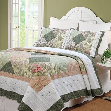 Cozy Line Home Fashion Williamsburg Forest Patchwork Quilt Set; King